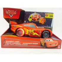 Cars Rayo Mcqueen Quemando Rueda Nuevo Mattel Cgk27