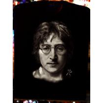 Playera Aerografia John Lennon Rostro Pintura Beatles Rock