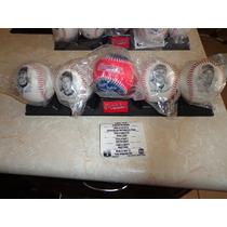 Set De 5 Pelotas Beisbol Super Estrellas Indios Cleveland 95