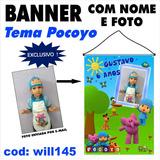 Banner Infantil P Aniversário 1m X 70cm Tema Pocoyo Will145