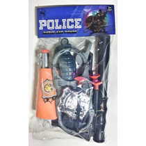 Kit Policia Fantasia Arminha 11 Pçs Arminha De Brinquedo