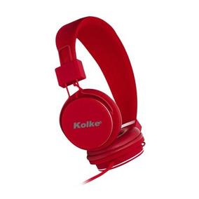 Fone De Ouvido C/ Microfone Kolke Ka-101 Vermelho Plug Unico