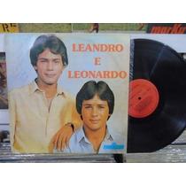 Lp Disco De Vinil Leandro E Leonardo - Primeiro 1983 Raro