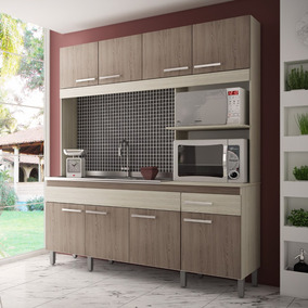 Cozinha Compacta Decibal Tulipa 8 Portas E 1 Gaveta - Bali/b