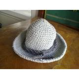 Sombrero De Lana Tejido A Mano Al Crochet Capelina