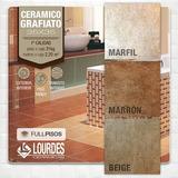 Ceramica Lourdes Grafiato Marfil Marron Beige 35x35 La Plata