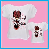 Blusa, Camisetas Tal Mãe Tal Filha Minnie Vermelha, T-shirt