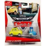Disney World Of Cars, Radiador Fundido A Troquel, Luigi & G