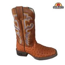 Bota Texana Country Durango Em Couro De Avestruz Legítimo
