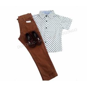 Conjunto Infantil Camisa Social C/calça Festa Igreja Dia Dia