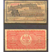 Si-sin-8 Billete De Sinaloa De 50 Centavos