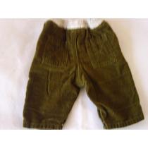 Pantalon Pana Verde Militar Marca Gymboree Talla 0-3 Meses