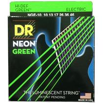 Encordoamento Guitarra Dr Neon Nge-10 10-46 - Verde - Ec0126