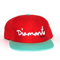 Boné Snapback Diamond Supply Co Diamante Por Vida Vermelho