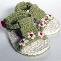 Colección Huaraches Para Bebé Tejido A Mano Crochet