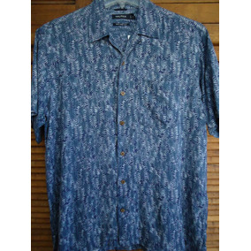Camisa Hawaiana De La Linea Nautica Talla M 100% Seda