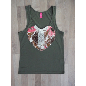 Musculosa Verde Estampada Body