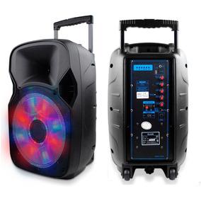 Caixa De Som 1200w Portatil Amplificada Bluetooth Bateria Fm
