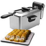 Freidora Electrica 3 Lt Acero Inoxidable Sushi Envio Gratis