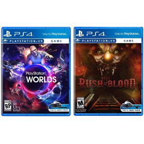 Combo Ps4 Vr Games: Until Dawn Rush Of Blood + Vr Worlds