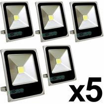Kit 5 Refletor Branco Frio Led 10w Holofote Sl Bivolt Dagua