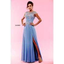 Vestido Azul/ Madrinha/ Mãe De Noiva/ Casamento/ Formatura