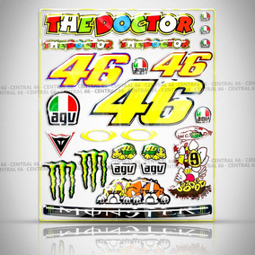 Cartela Valentino Rossi Iros Action 100 Es 24 Adesivos Resin