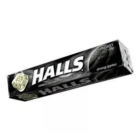 Halls Negras 3s Paquete Con 9 Pastillas Envió Gratis Por Dhl