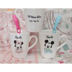 Souvenirs Tazas Mates Personalizados Mickey Minnie Vidrio