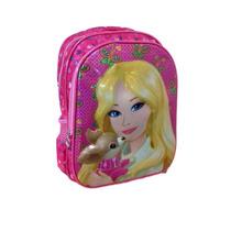 Mochila Escolar Infantil Barbie Costa Alto Relevo