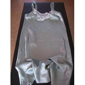Satén Camisolin Camisón Baby Doll Bordado Usado Talle 40 42