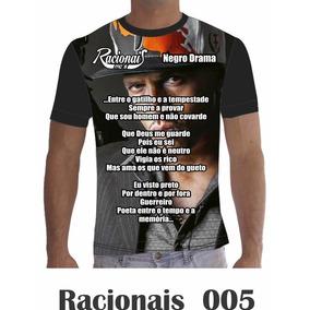 Camisa Camiseta Musica Racionais Mcs Rap Hip Hop 005