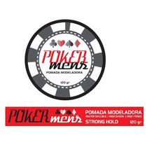 12 Pomada Modeladora 120g Poker Mens + Brinde Promoção