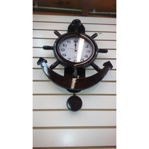 Reloj De Pared Mediano Modelo Ancla Madera Con Péndulo