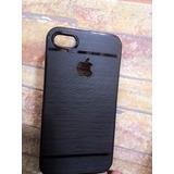 Capa Case Iphone 4 4s Logo Apple Película De Vidro Proteção