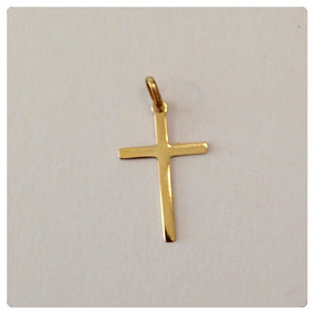 Pingente Cruz Crucifixo Laminado Ouro 18k Maciço Jóia Kgshop