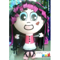 Piñata Tipo Monster High Draculaura Toralei Frankie Clawd