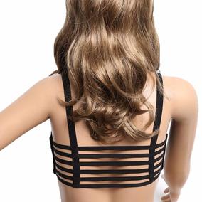 Bralette Crop Top Brasier Blusas Corpiño Con Tiras Moda 1