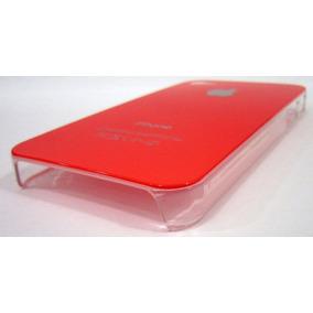 Padrisima Carcaza Cristal Color Naranja Para Iphone 4
