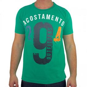 Camiseta Masculina Acostamento Manga Curta Estampada