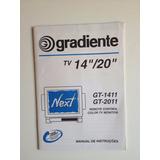 Manual De Instruções Gradiente Tv 14 20 Gt-1411 Gt-2011