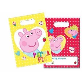 Peppa Pig Sacola Plástica Surpresa Para Festa 16 Unidades