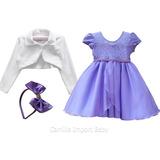 Vestido Princesa Sofia Festa Infantil E Tiara Bolero 2 Ao 16