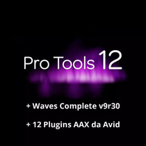 Pro Tools 12 Hd + Plugins Aax Avid + Waves V9r30