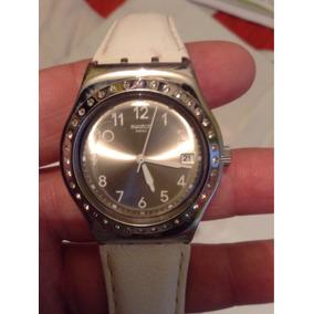 Reloj Swatch White Fan Irony Blanco Para Conocedores