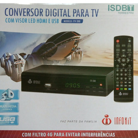 Conversor Tv Sinal Analogico P Digital Gravador Full Hd Hdmi