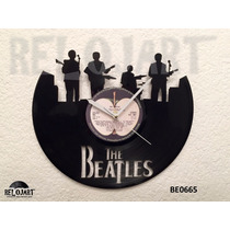 Original Reloj De Pared En Disco De Vinil - Beatles Musica
