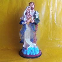 Sagrada Família Resina 40 Cm Imagem Católica