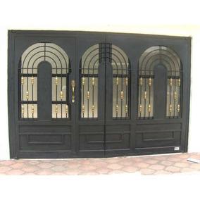 Puerta De Herreria Rustica Fina Modelo California. M2