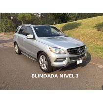 Mercedes-benz Ml350 2012 Blindada Nivel 3 - Como Nueva